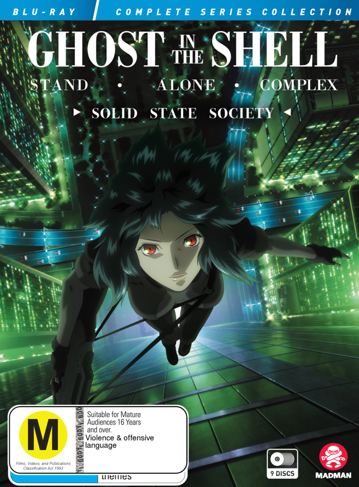 Ghost In The Shell Stand Alone Complex Complete Series Solid State Society Collection Blu Ray Real Groovy
