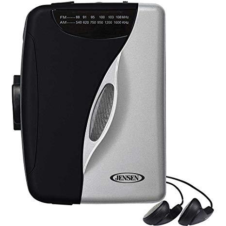 Cassette Player Walkman With Am/fm Radio Jensen Scr-75  Black