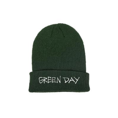 Green Day Knitted Ski Hat Beanie