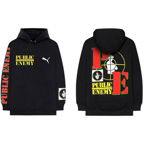 Public Enemy (Xlrg) Pullover Hoodie: Target Puma (Back Print)
