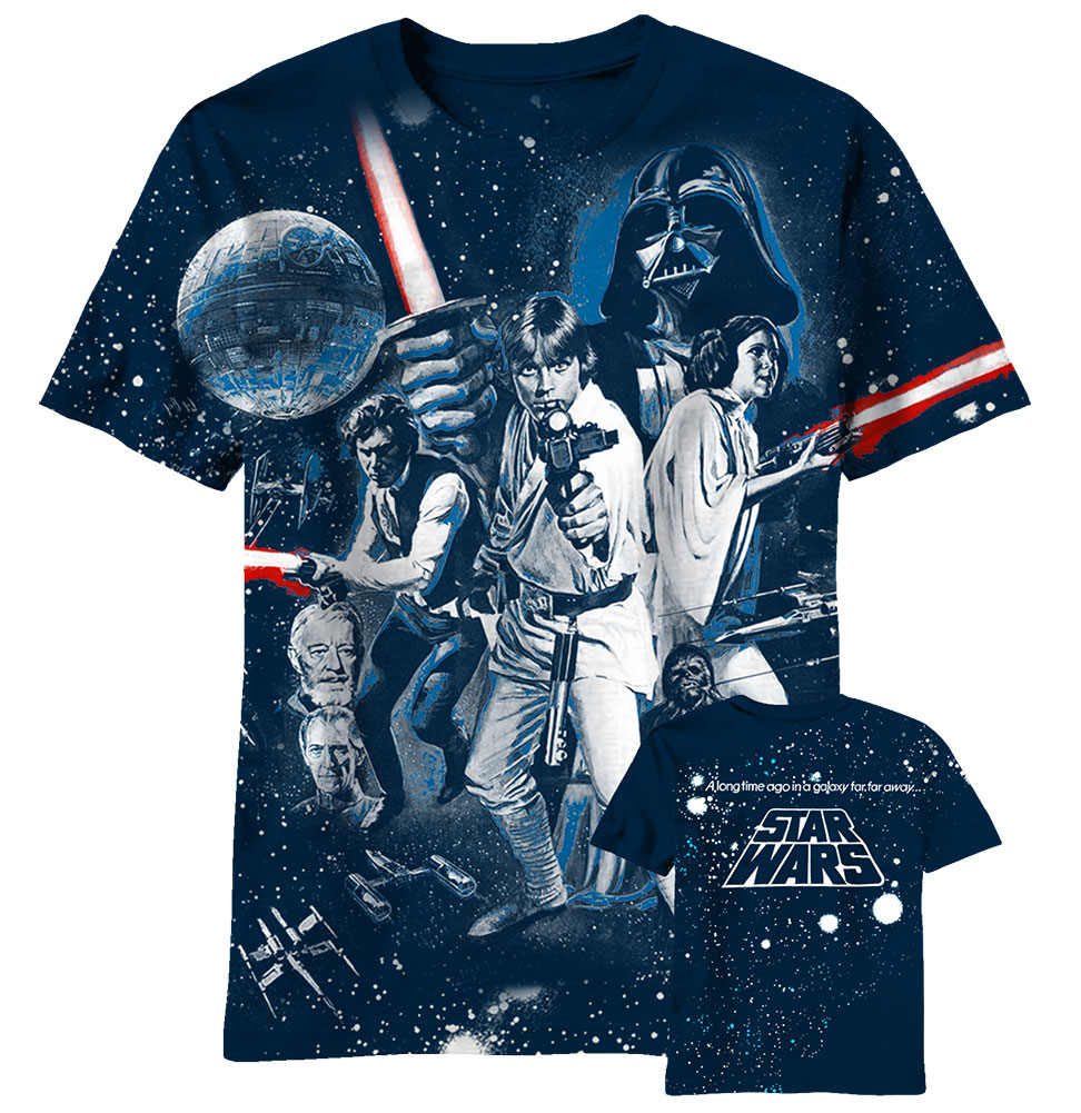 a6a92115 View. $ 44.99. Star Wars All Over Movie Print Tshirt ...