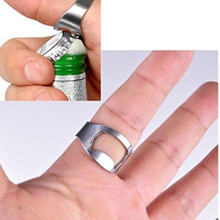 Bottle Opener Ring Silver