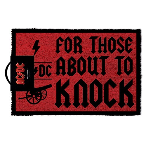 Acdc For Those About To Knock Doormat 40x60cm