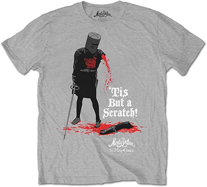 Monty Python (L) Tis But A Scratch Tshirt
