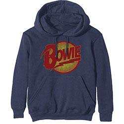 David Bowie (L) Navy Hoodie Sweatshirt