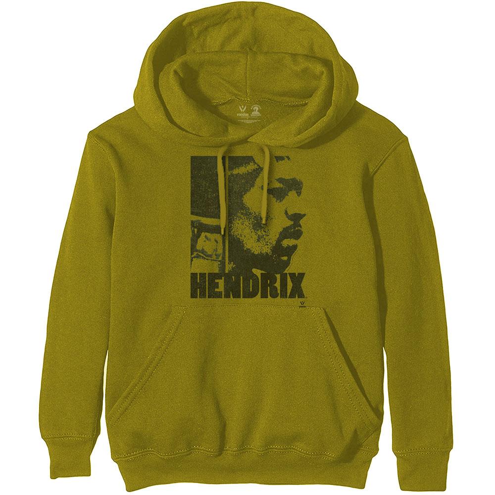 Jimi Hendrix (M) Green Hoodie Sweatshirt