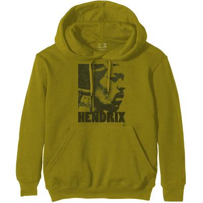 Jimi Hendrix (L) Green Hoodie Sweatshirt