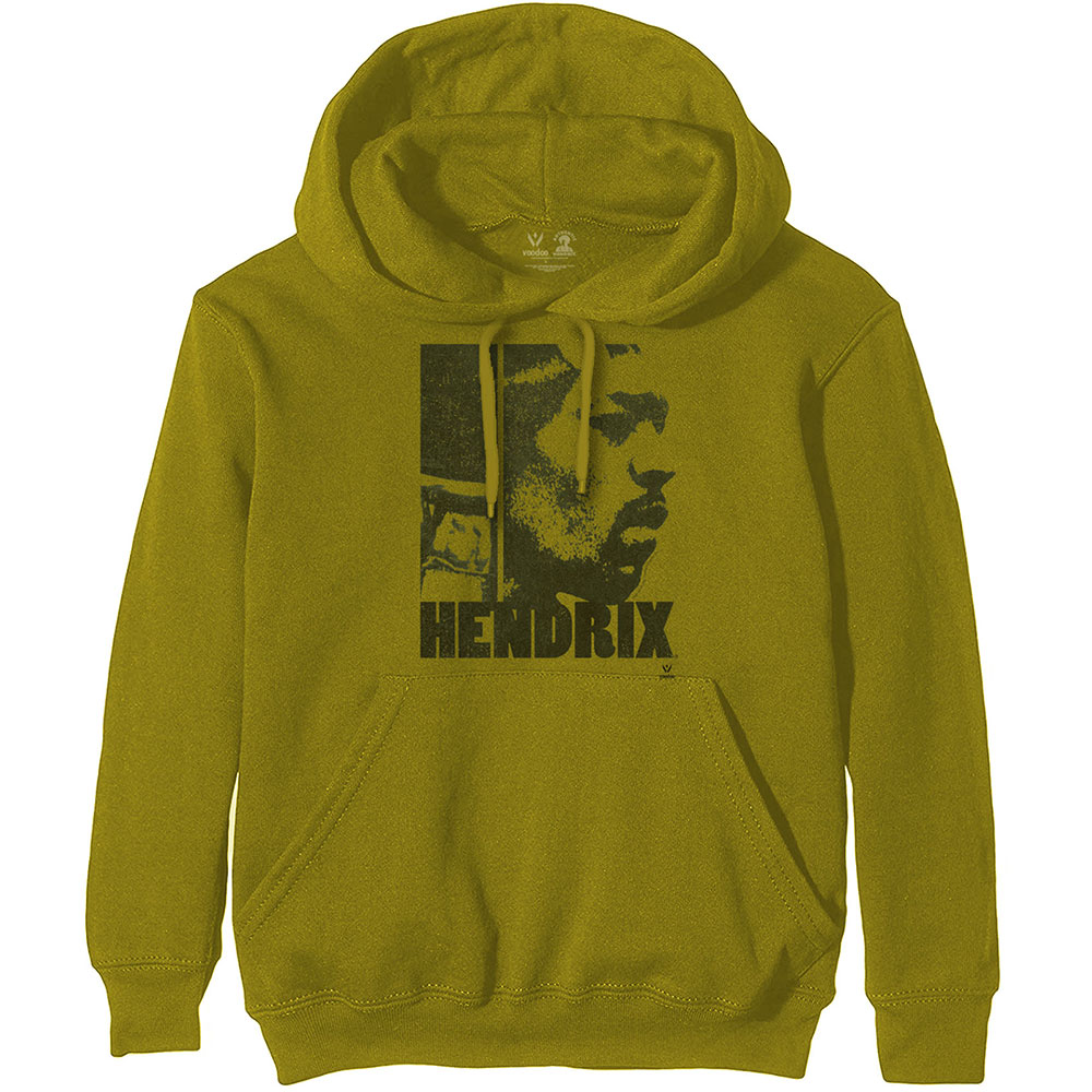 Jimi Hendrix (XL) Green Hoodie Sweatshirt
