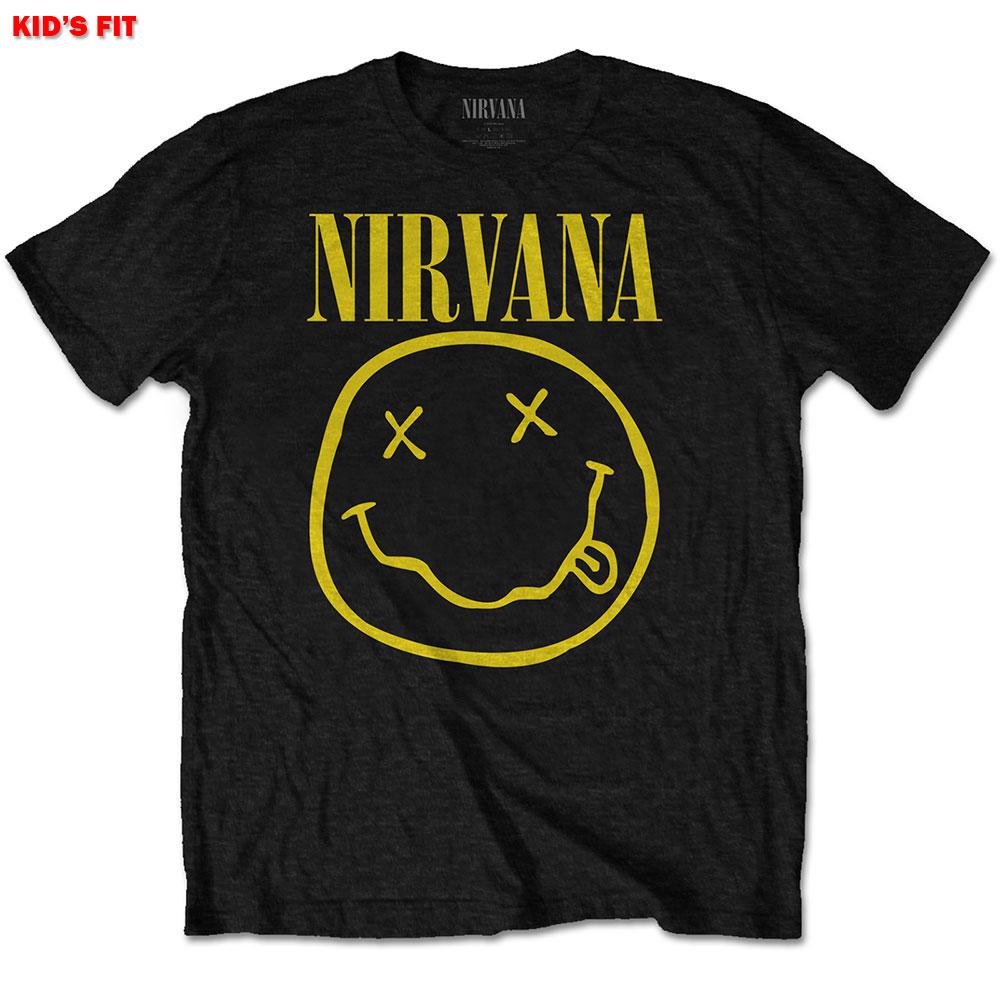 Nirvana Kids (5-6) Smiley Black Tee