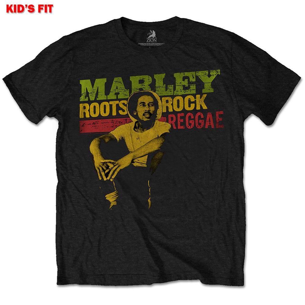 Bob Marley Kids Tee: Roots, Rock, Reggae 7 - 8 Years