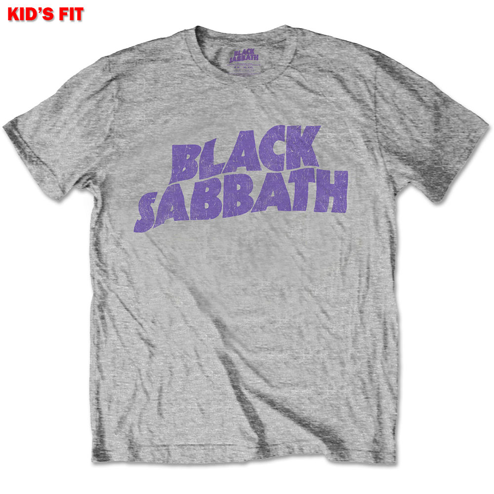 Black Sabbath Kids (5-6 Years) Wavy Logo Tee