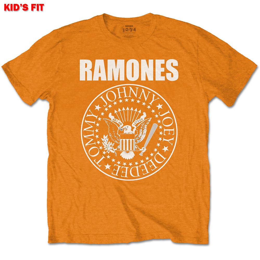 Ramones Kids (13-14) Presidential Seal Orange Tee
