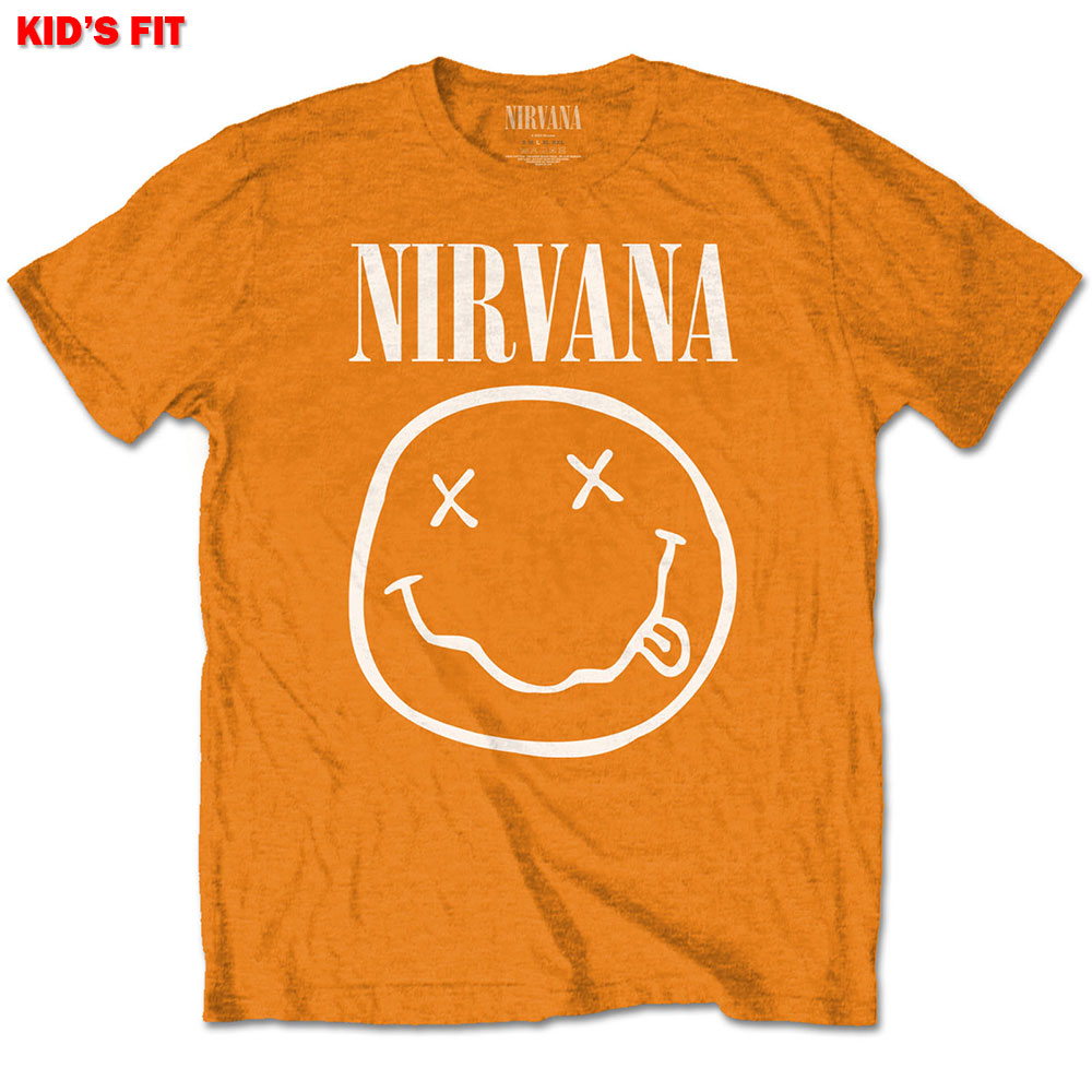 Nirvana Kids 7 - 8 Years Smiley Orange Tee