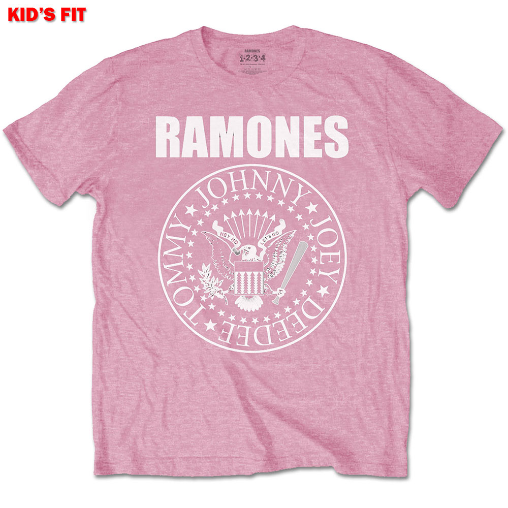 Ramones Kids Presidential Seal Pink Tee 9 - 10 Years
