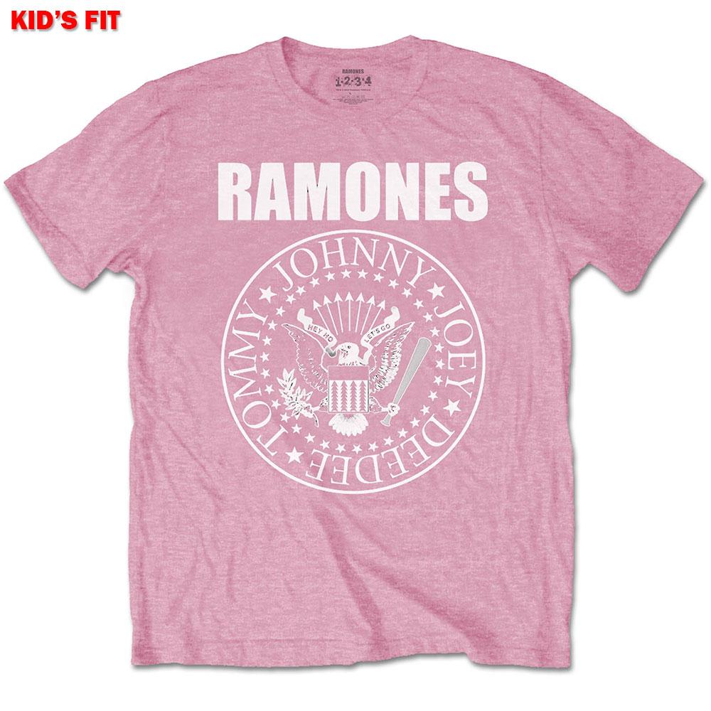 Ramones Kids (13-14) Presidential Seal Pink Tee
