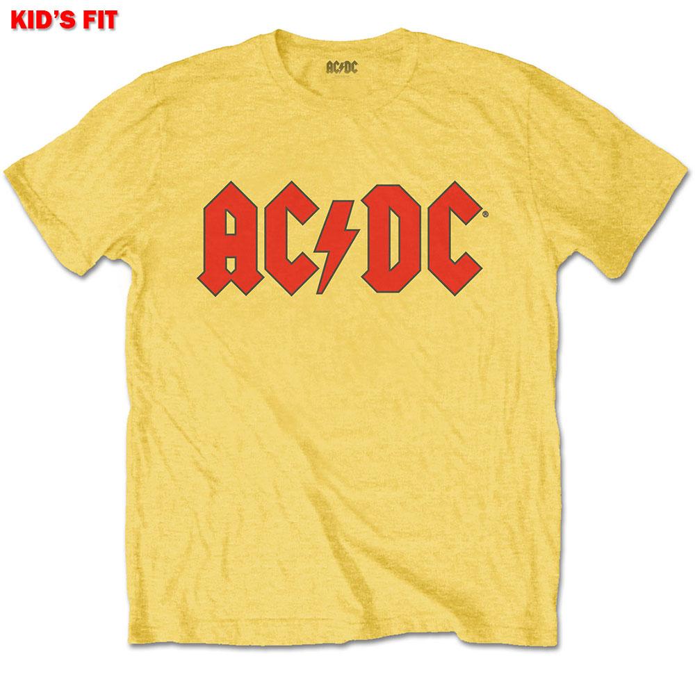 Ac/dc Kids Tee: Logo Yellow 3 - 4 Years