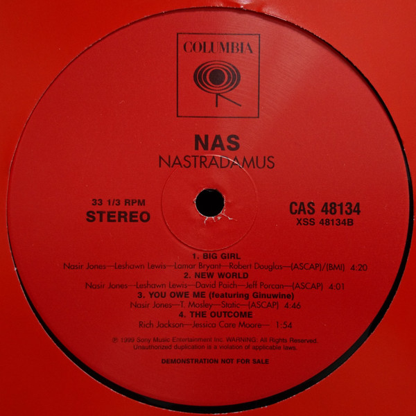 Nas: Nastradamus - Clean Version - 2lp Promo - Real Groovy