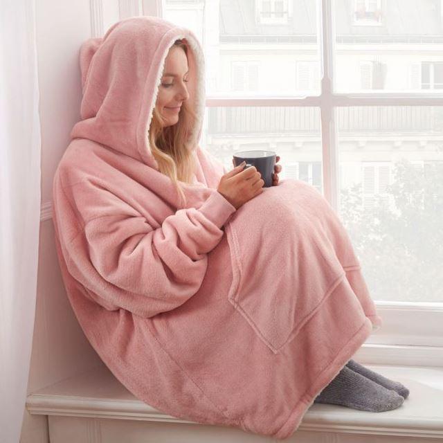 Mega Hoodie Blanket Large Pink Drop Shipped Essential