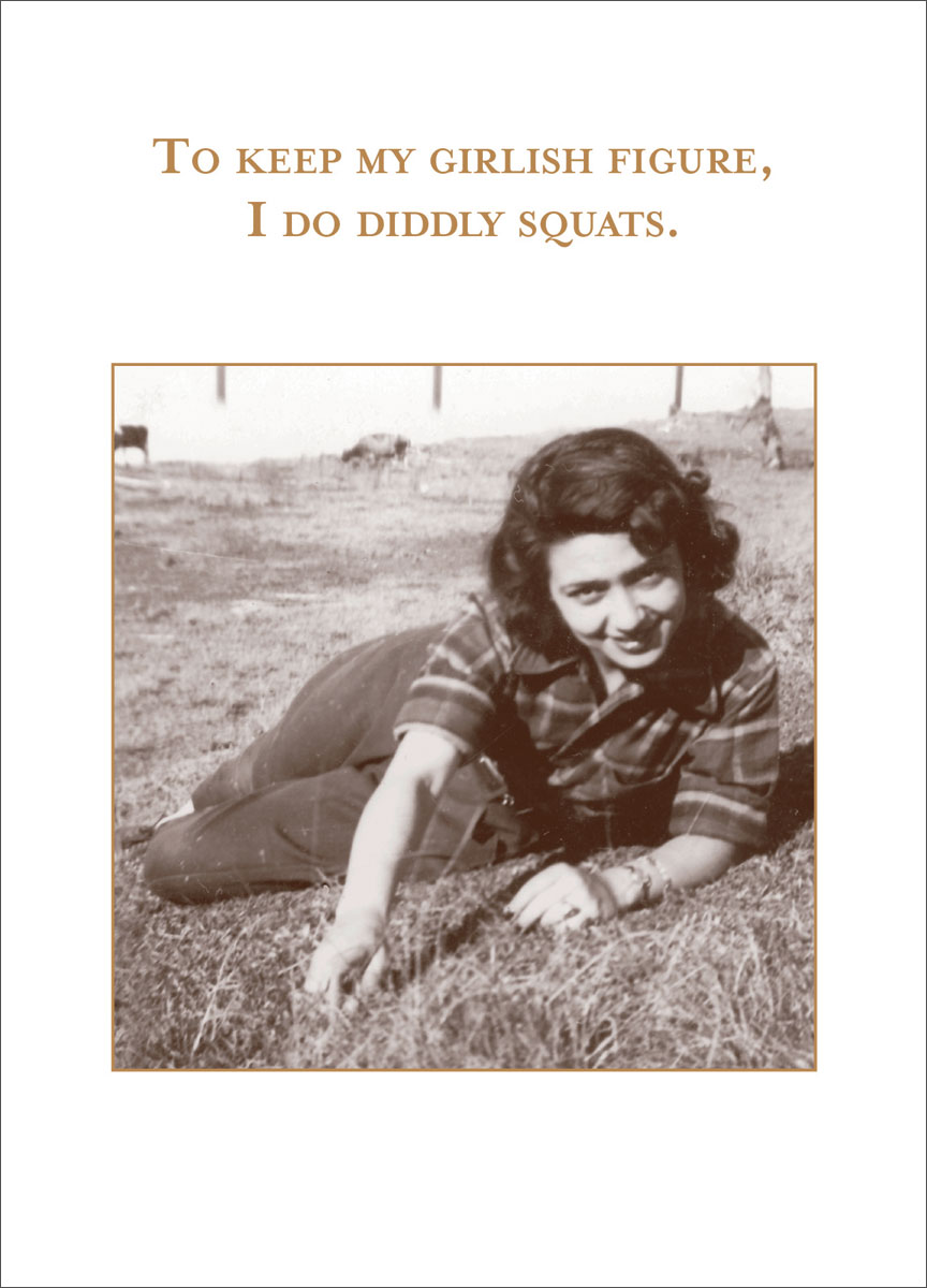 Diddly Squats Greeting Card
