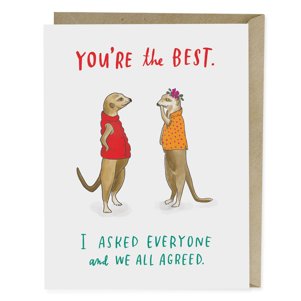 Youre The Best Greeting Card Real Groovy