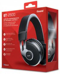 Isound Bluetooth Bt-2500 Headphone - Black/silver