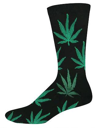Pot Weed Black Socks Osfa
