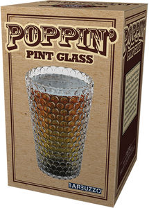 Bubble Wrap Pint Glass Popping Glass