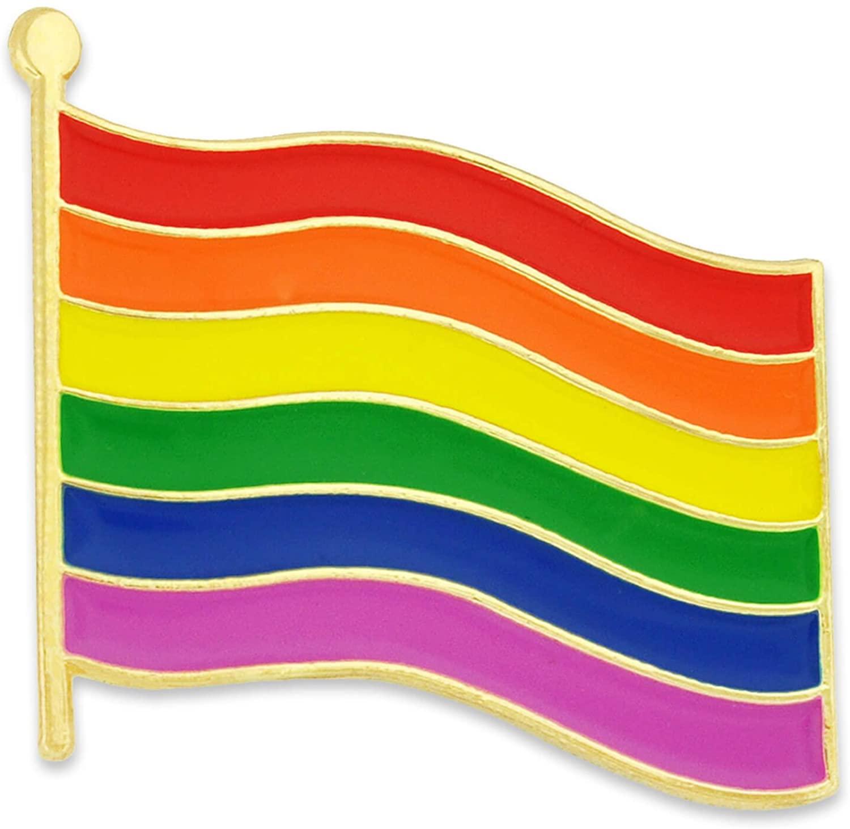 Rainbow Flag Lgbtq Enamel Badge Pin