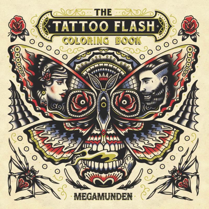 Tattoo Flash Colouring Book