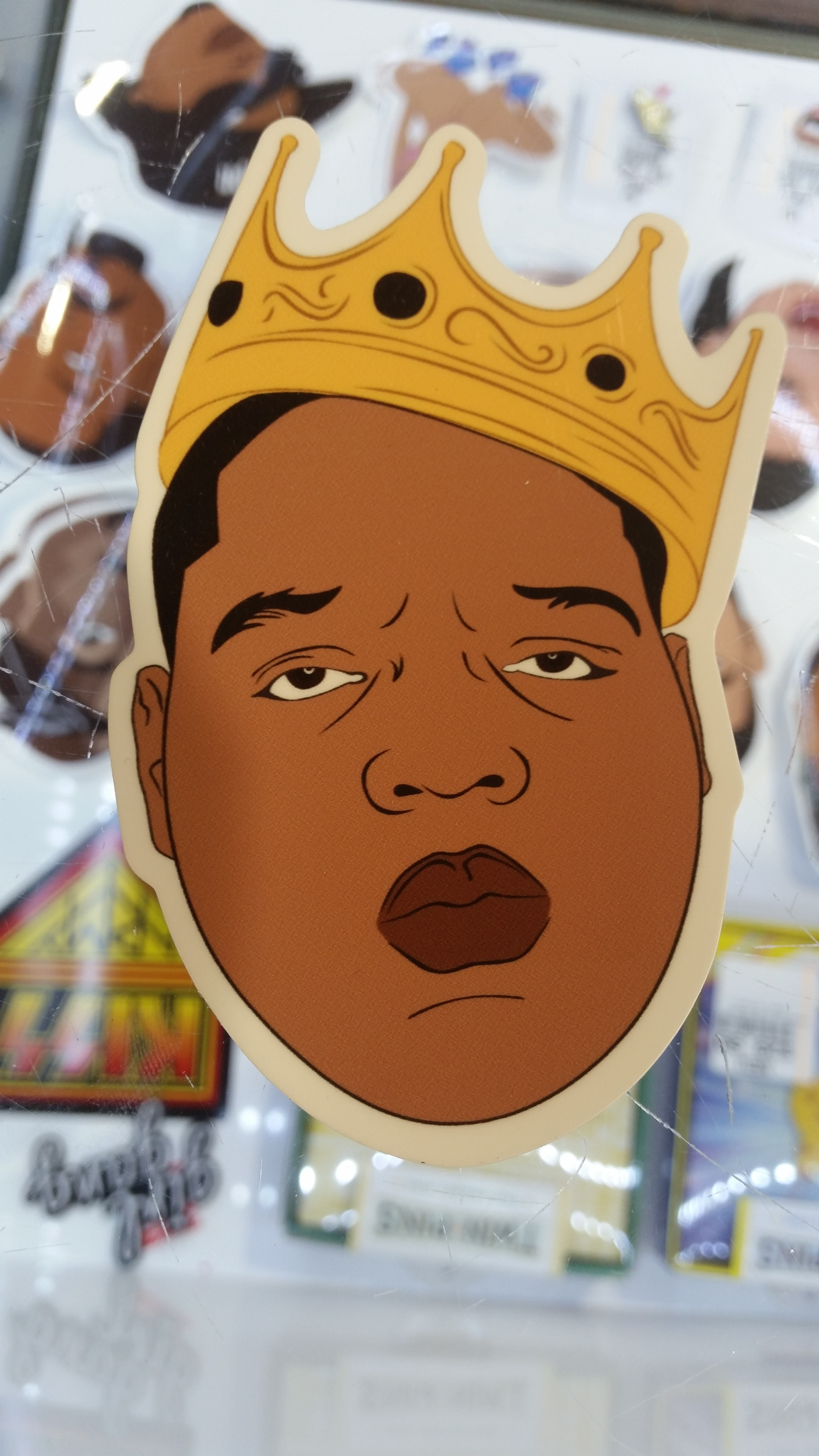 Notorious Big Crown Sticker Real Groovy The animated series follows the adventures of bobby kid notorious evans as he moves and shakes deals all over. real groovy
